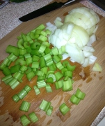 Onions and Celery for Soup