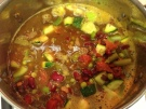 Green and Red Soup