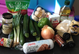 Zucchini Boat Ingredients