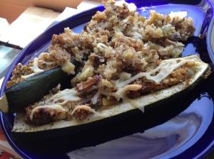 Zucchini Boat Stuffed Zucchini