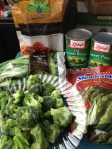 Broccoli Pesto with Rice Noodle Ingredients