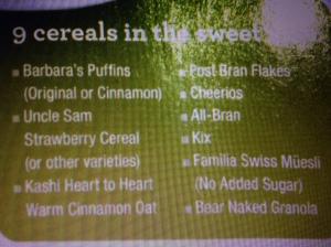9 Clean Cereals