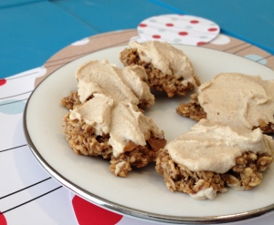 Gluten Free Caramel Cookies with Caramel Cashew Frosting