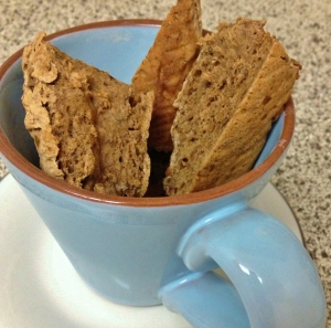 Vegan Banana Bread Biscotti