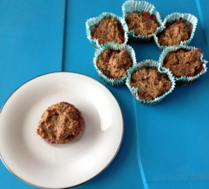 Vegan Gluten Free PB and Homemade Strawberry Jam Muffins