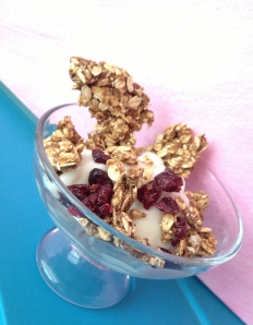 Chocolate Shakeology Almond Butter Granola