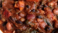 Vegan Fall Pumpkin Kale Chili