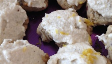 Vegan Lemon Cookies with Lemon Cashew Frosting