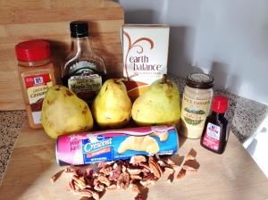 Vegan Mini Pear Pot Pies