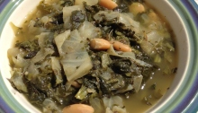 Tuscan Greens and White Bean Soup, Vegan and Gluten Free