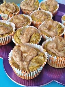 Vegan and Gluten Free Pumpkin Cream Cheese Muffins