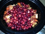 Slow Cooker Sweet Potato, Apple and Cranberry Sauce