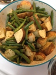 Savory Roasted Potatoes and Green Beans