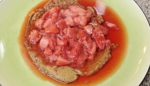 Eating for One Personal Pancake with Strawberry Syrup