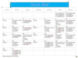 FIV March 14 Workout Plan