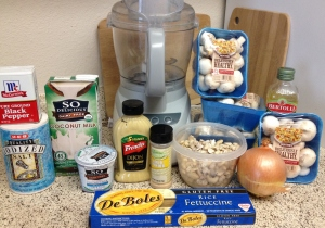 Creamy Cashew Mushroom Stroganoff