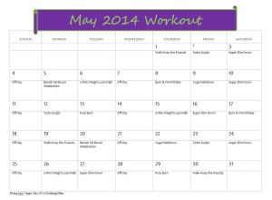 May 14 Workout Schedule