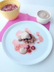 Vegan Strawberry Short Biscuits with Pecan Cream