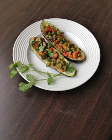 Thai Zucchini Boats, vegan and gluten-free