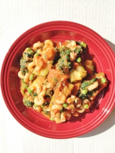 Vegan and Gluten- Free Roasted Eggplant Marinara Macaroni