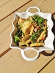 Vegan and Gluten-Free Summery Chimichurri Pesto Pasta Salad