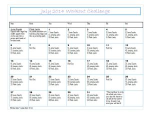 July 2014 Challenge