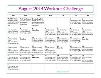 August Workout Challenge