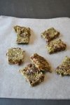 Raw 3 Ingredient Vegan and Gluten-Free Seed-y Cherry Bars, no nuts