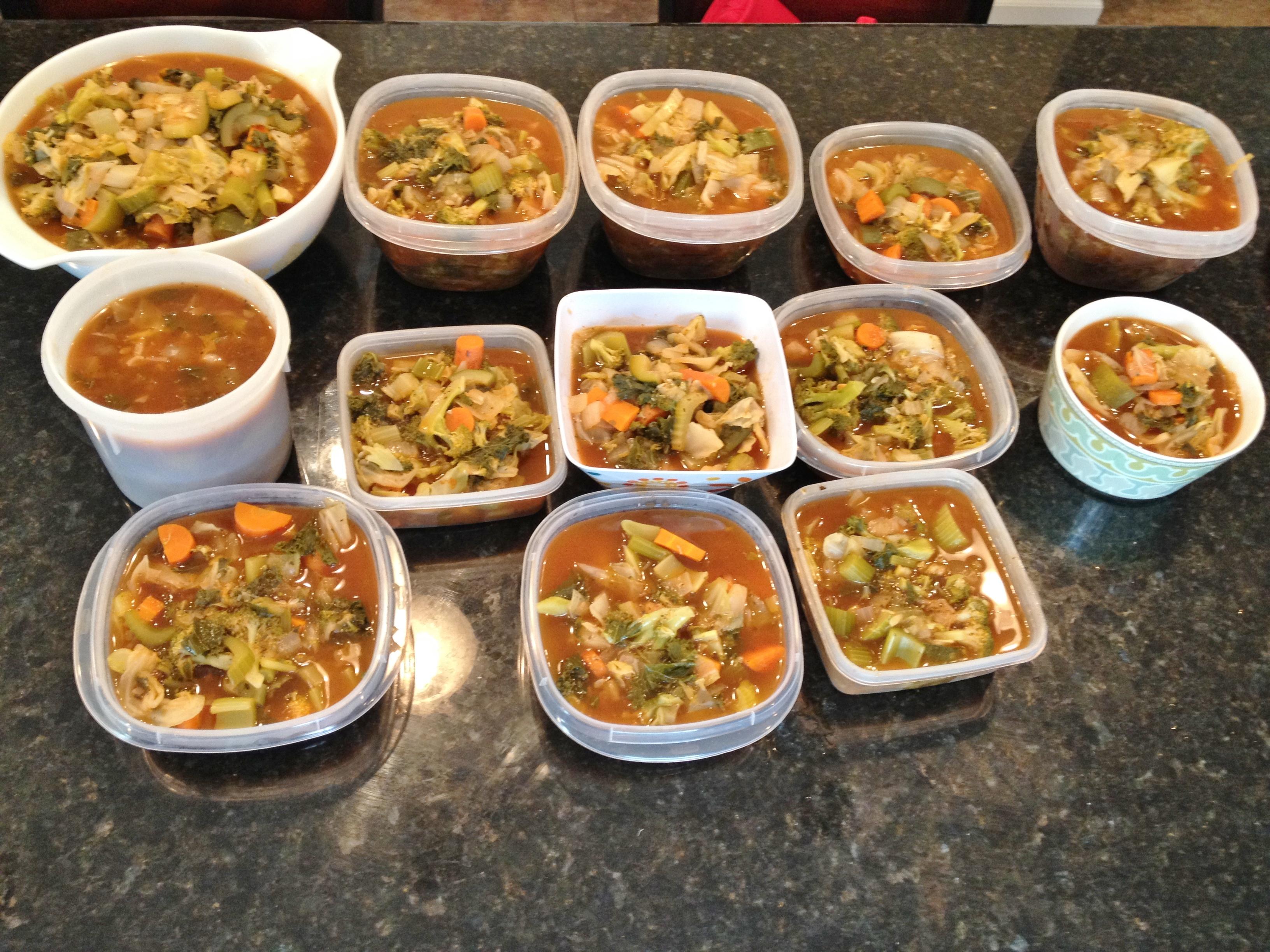 Zero calorie foods soup fitting into vegan for Cuisine 0 calorie