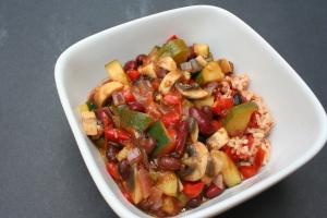 Vegan and Gluten-Free Spicy Fajita Casserole