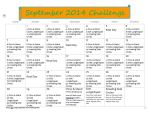 September 2014 Workout Challenge