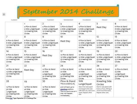 September 2014 Workout Challenge