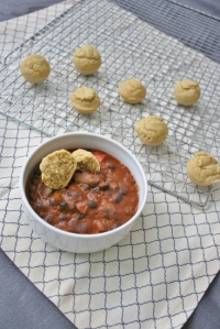 Vegan and Gluten-Free Butternut Squash Enchilada Chili With Cumin Cornbread Mini-Muffins