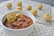 Vegan and Gluten-Free Butternut Squash Enchilada Chili With Cumin Cornbread Mini-Muffins