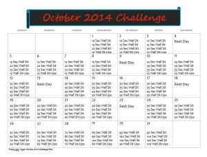 Fitting Into Vegan October Workout Challenge