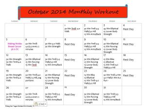 Fitting Into Vegan October Monthly Workout