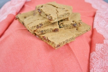 Vegan and Gluten-Free Pumpkin Raisin Blondies