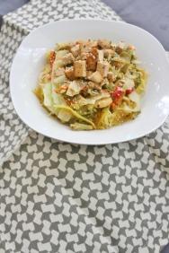 Sunbutter Pad Thai with Spaghetti Squash, vegan, gluten- and sugar-free