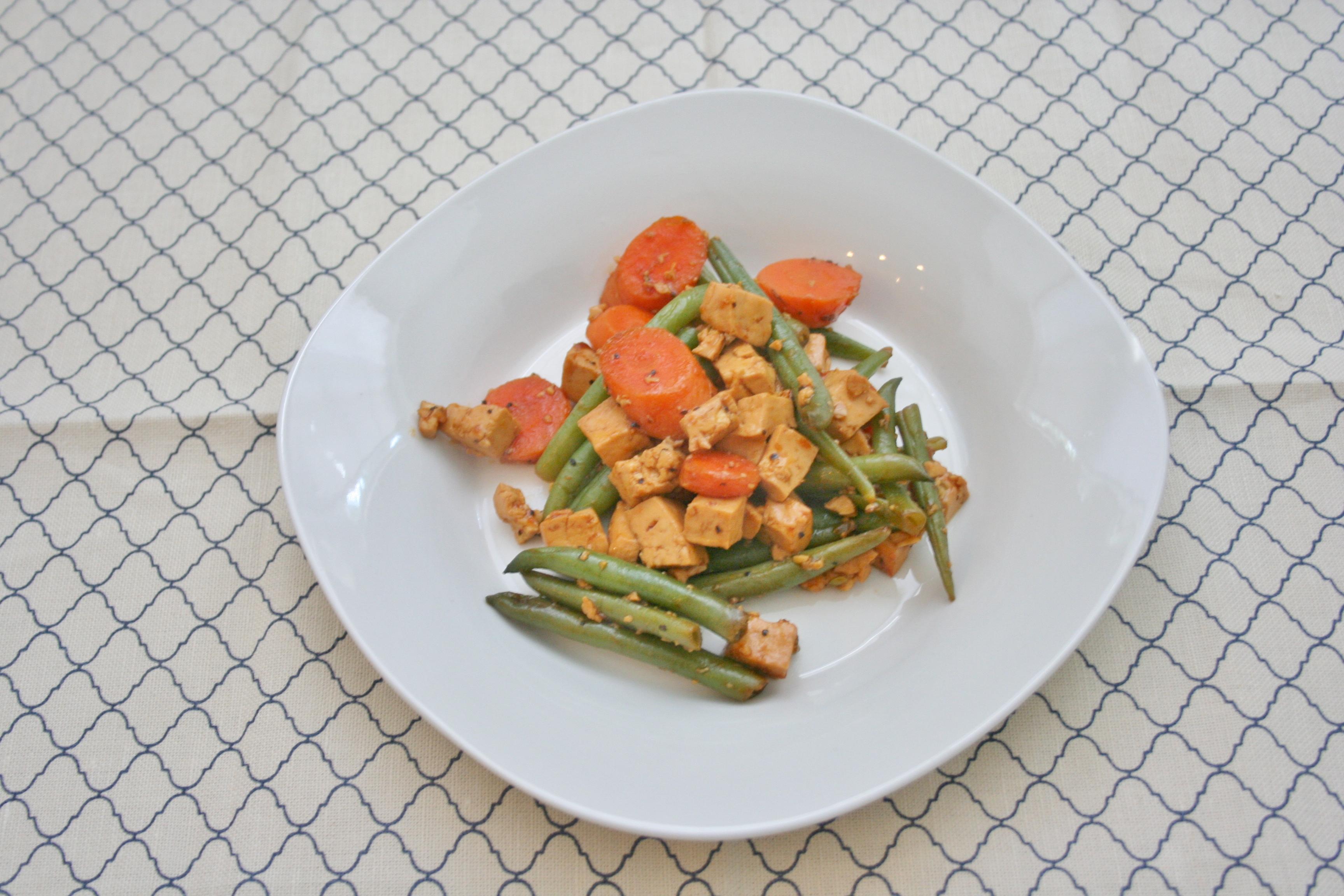 Vegan, Gluten-Free and Sugar-Free Sweet and Savory Tofu and Veggies