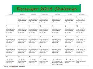December 2014 Workout Challenge