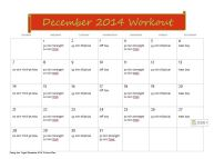 December Workout Plan