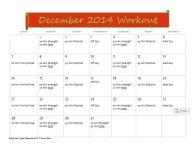 December Workout Plan