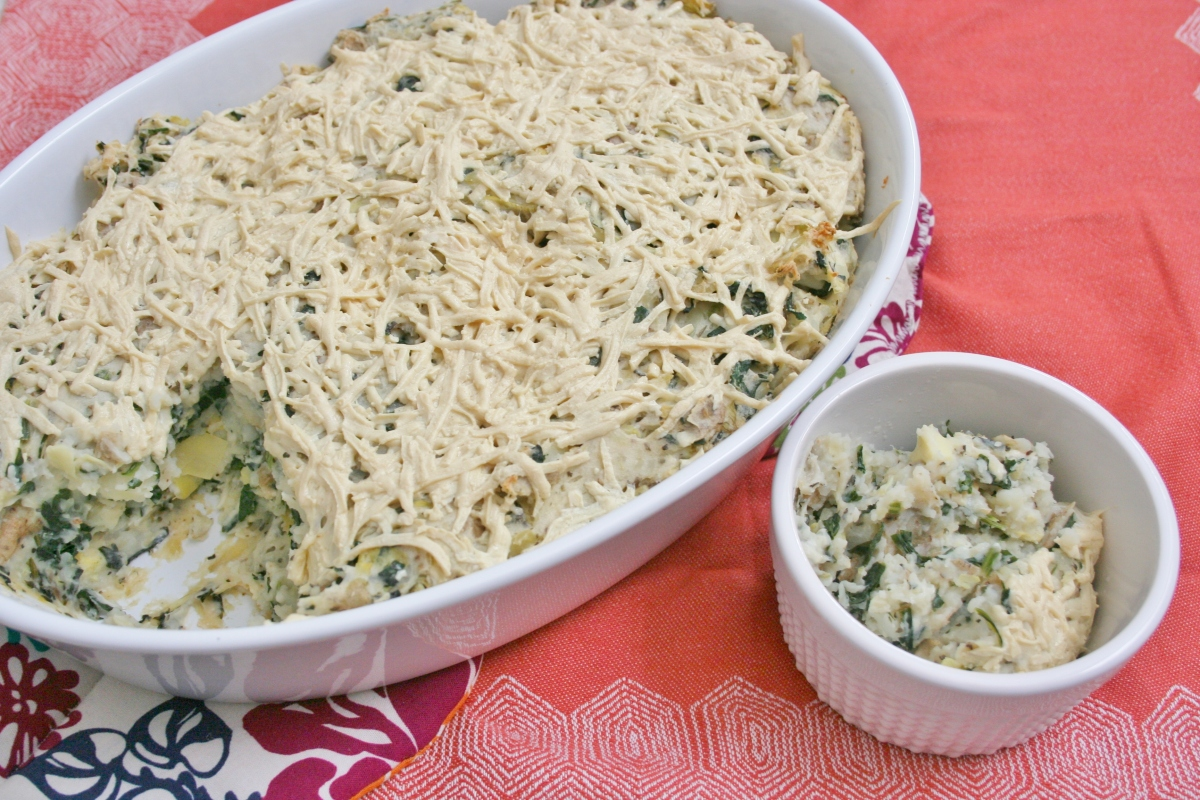 Spinach Artichoke Mashed Potatoes | Fitting Into Vegan