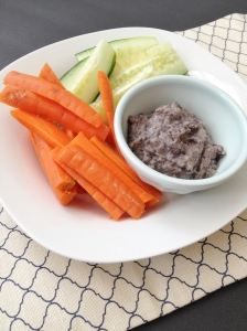 Vegan and Gluten-Free Roasted Garlic and Black Bean Hummus