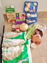 Vegan and Gluten-Free Roasted Mushroom and Cauli Chowder