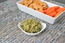 Spicy Green Edamame Kale Hummus