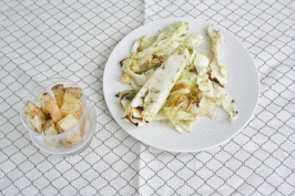Onion Chive Roasted Cabbage and Potatoes