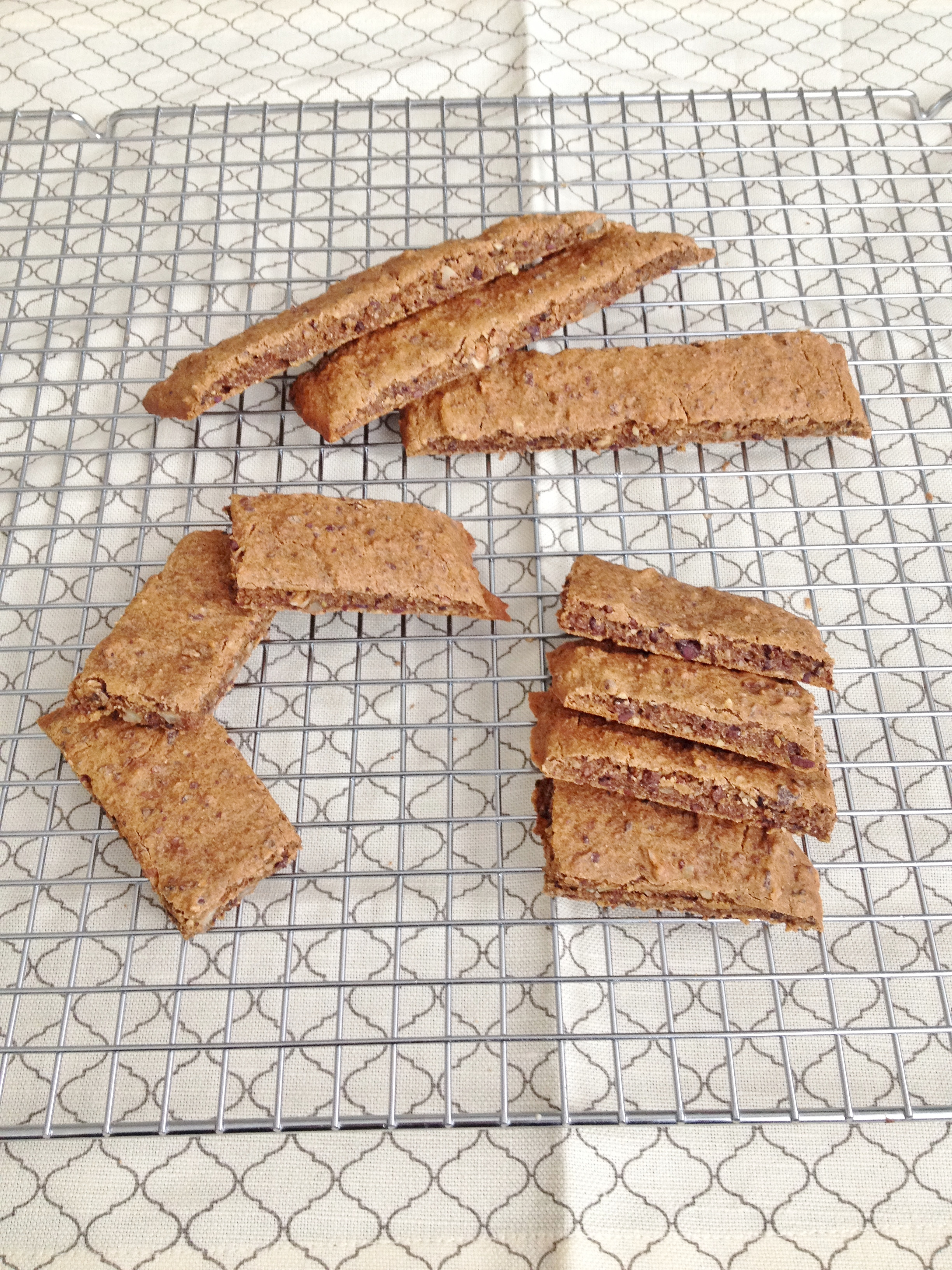 Vegan & Gluten-free Pecan Coffee Biscotti | Fitting Into Vegan