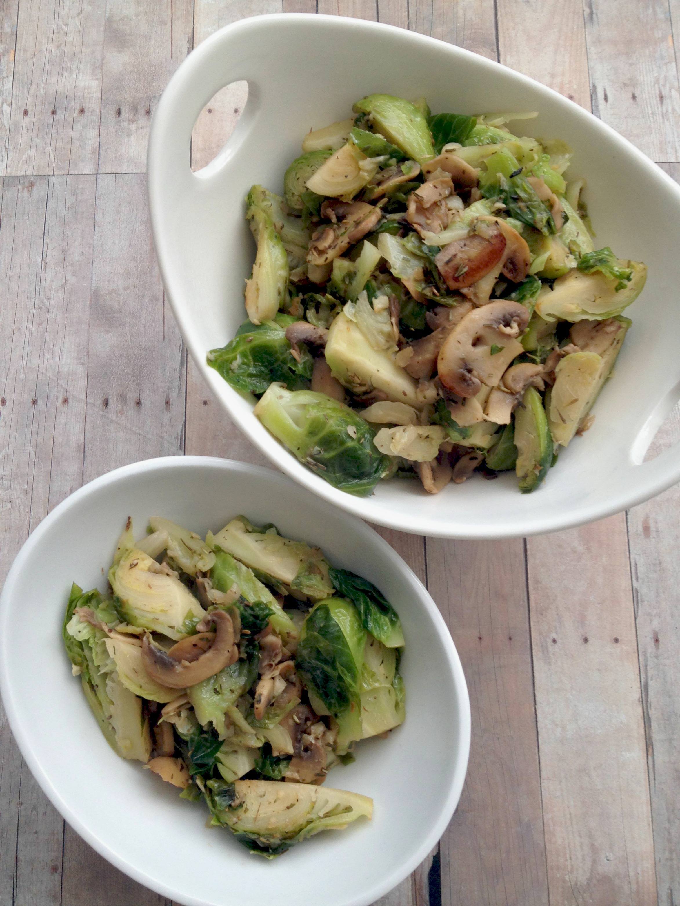 Easy Sauteed Brussels Sprouts | Fitting Into Vegan