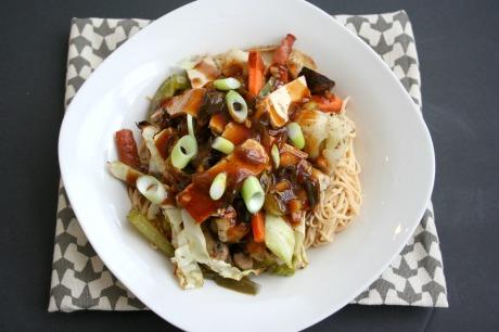 Vegan and Gluten-Free Kung Pao Roasted Veggies